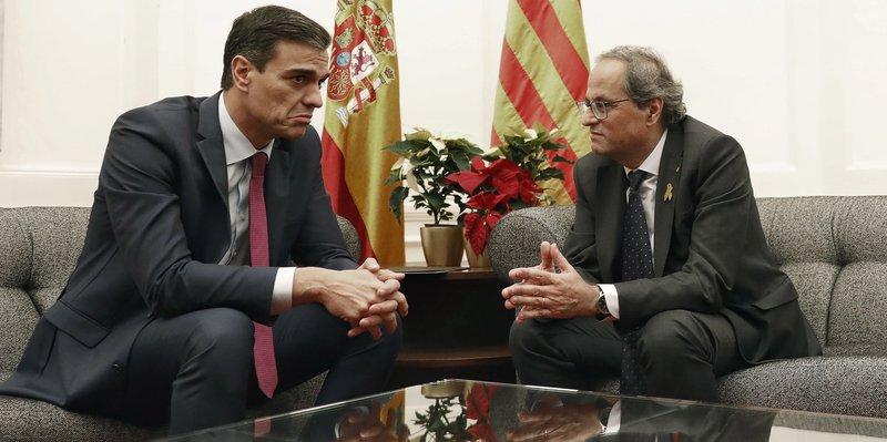 cimera de pedralbes, Pedro Sánchez, Quim torra,